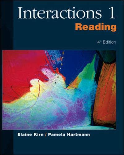9780072330687: Interactions/Mosaic, 4th Edition - Interactions 1 (High Beginning to Low Intermediate) - Reading Student Book: Interactions 1 High Beginning to Low Intermediate No. 1