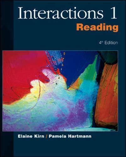 Interactions I Reading Skills (No. 1): Elaine Kirn; Kirn-Hartmann;