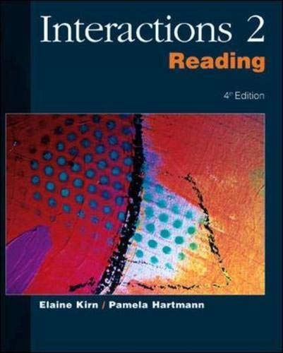 Interactions II: Reading: Elaine Kirn, Hartman-Kirn, Pamela Hartmann