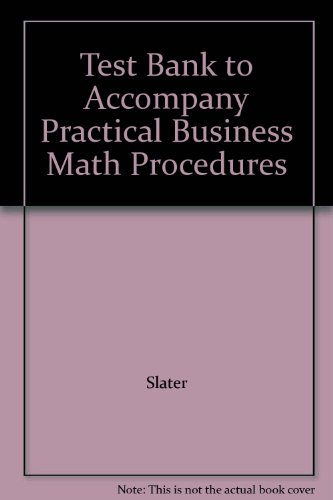 9780072331486: Test Bank to Accompany Practical Business Math Procedures