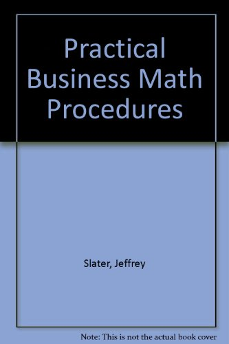 9780072331493: Student Solutions Manual to accompany Practical Business Math Procedures