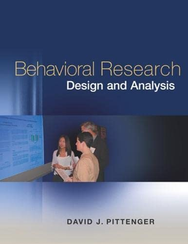 9780072333107: Behavioral Research Design and Analysis