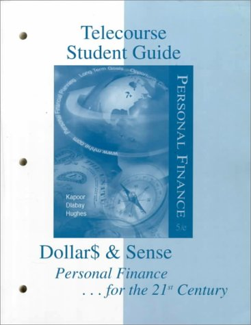 Telecourse Study Guide to accompany Personal Finance: Kapoor, Jack R.,