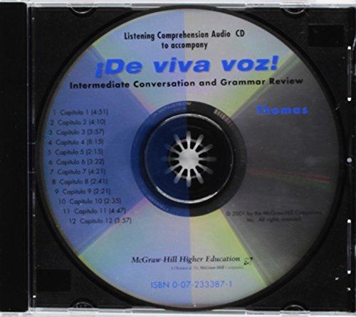 9780072333879: Listening Comprehension Audio CD to accompany De viva voz