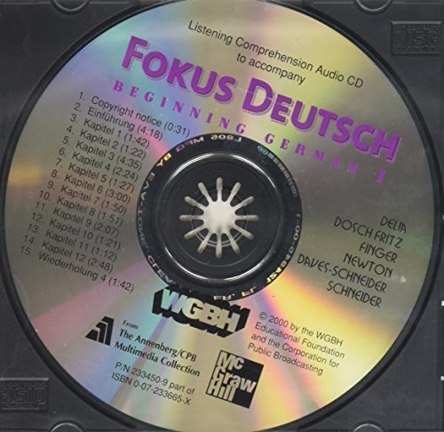 9780072334500: Listening Comprehension Audio CD Component for Fokus Deutsch: Beginning German 1 (Student Edition)