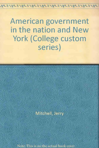 9780072335149: American government in the nation and New York (College custom series)