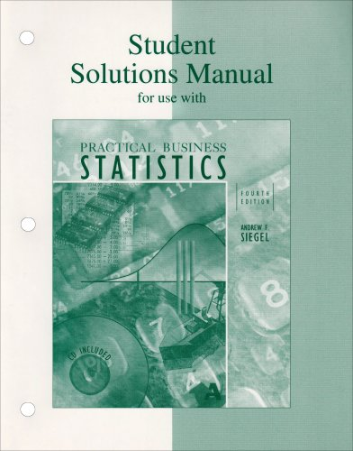 9780072336177: Student Solutions Manual for use with Practical Business Statistics