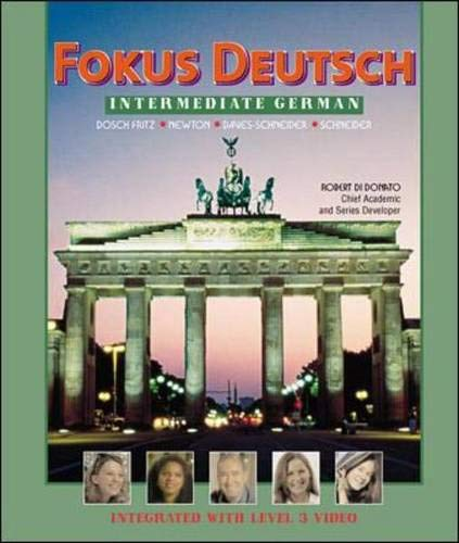 9780072336610: Fokus Deutsch:  Intermediate German (Student Edition + Listening Comprehension Audio CD)