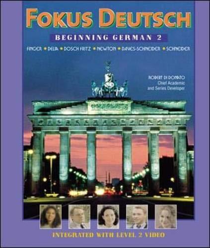 9780072336627: Fokus Deutsch: Beginning German 2 (Student Edition + Listening Comprehension Audio CD)