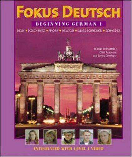 9780072336641: Fokus Deutsch: Beginning German 1 (Student Edition + Listening Comprehension Audio Cassette)