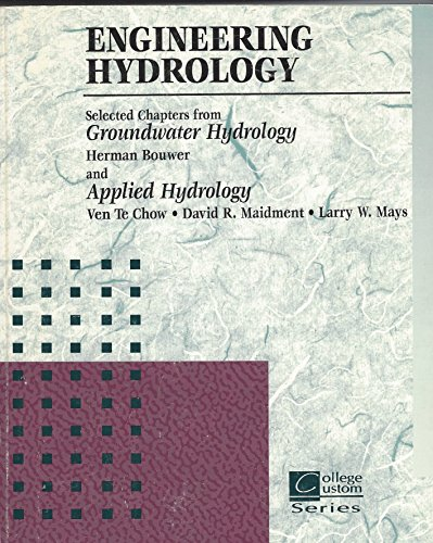 9780072336696: Engineering Hydrology: Selected Chapters From Groundwater Hydrology and Applied Hydrology