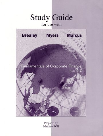 9780072337815: Study Guide to accompany Fundamentals of Corporate Finance