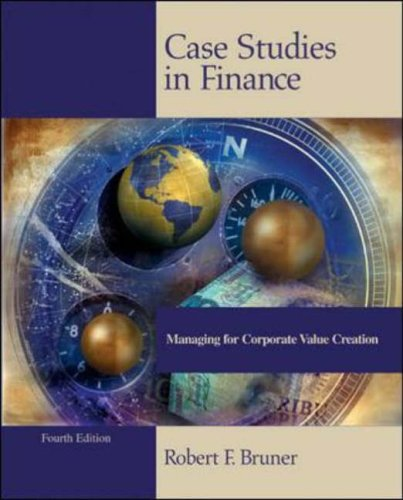 case studies in finance managing for corporate value creation (6th ed.) Solution manual for case studies in finance managing for corporate value creation 6th edition by bruner download free sample here to see what is in this solution manual for case studies in finance managing for corporate value creation 6th edition by bruner note : this is not a text book.