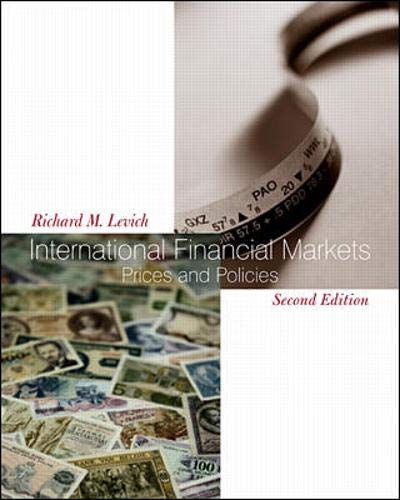 9780072338652: International Financial Markets: Prices and Policies (The Mcgraw-Hill/Irwin Series in Finance, Insurance, and Real Estate)