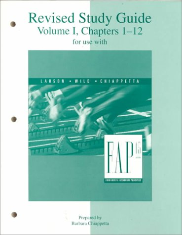 9780072339147: Study Guide Volume I Chapters 1-12 for use with Fundamental Accounting Principles