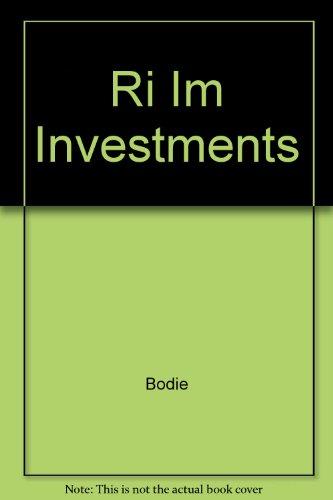 9780072339208: Ri Im Investments