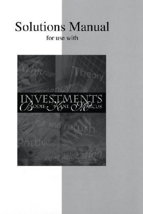 9780072339215: Solutions Manual for Investments