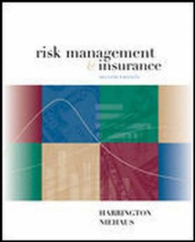 9780072339703: Risk Management and Insurance (McGraw-Hill/Irwin Series in Finance, Insurance, and Real Est)