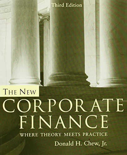 9780072339734: The New Corporate Finance: Where Theory Meets Practice (McGraw-Hill/Irwin Series in Finance, Insurance, and Real Est)