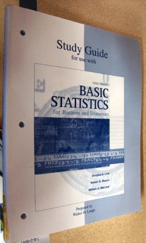 9780072339857: Study Guide for use with Basic Statistics for Business and Economics