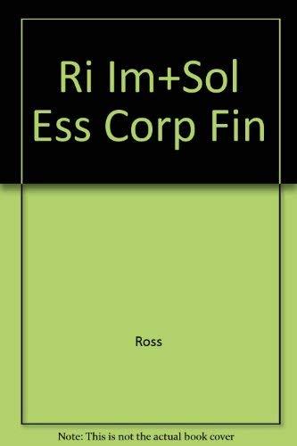 9780072340563: Ri Im+Sol Ess Corp Fin