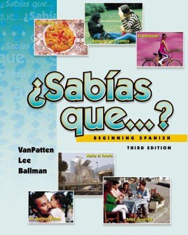 9780072342147: ¿Sabias que. . .  ?, Beginning Spanish (Student Edition + Listening Comprehension Audio CD)