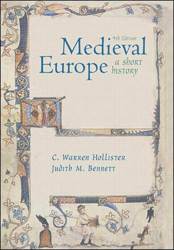 9780072346572: Medieval Europe: A Short History