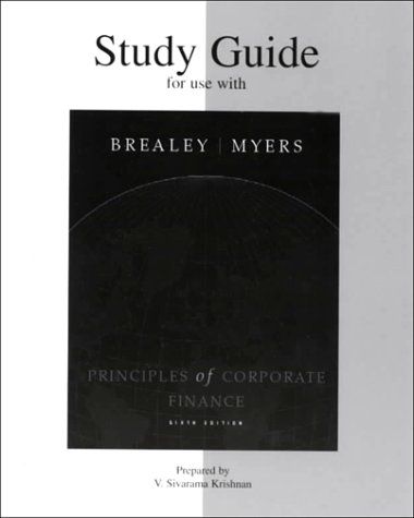 9780072346589: Study Guide to accompany Principles of Corporate Finance
