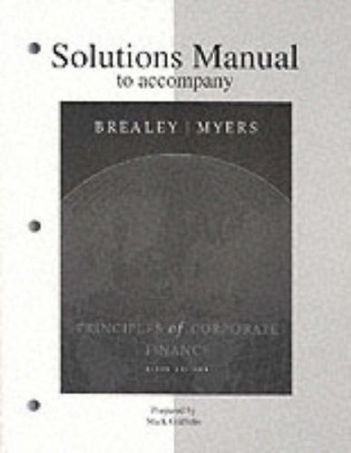 9780072346596: Solutions Manual to accompany Principles of Corporate Finance