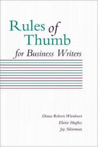 9780072347463: Rules of Thumb for Business Writers