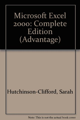 9780072348088: Advantage Series:  Microsoft Excel 2000 Complete Edition