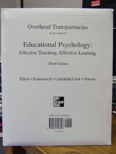 Overhead transparencies to accompany Educational Psychology: Effective: Stephen N. Elliott,