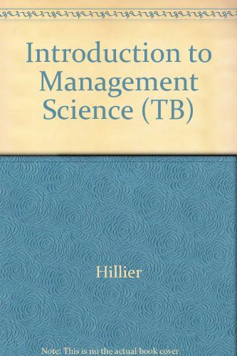 9780072348637: Introduction to Management Science (TB)