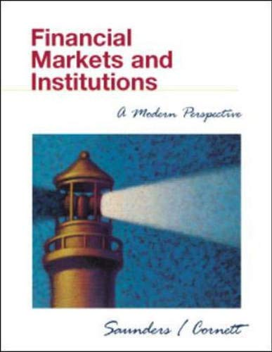 9780072348927: Financial Markets and Institutions: A Modern Perspective
