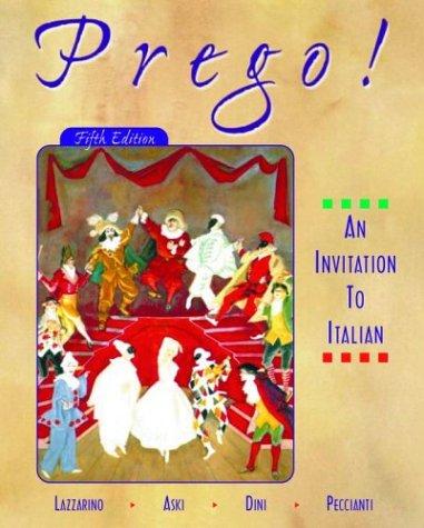 9780072350043: Prego! An Invitation to Italian (Student Edition + Learning Comprehenion Audio Cassette)