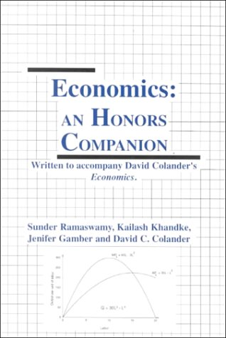 9780072352900: Honors Companion for Economics