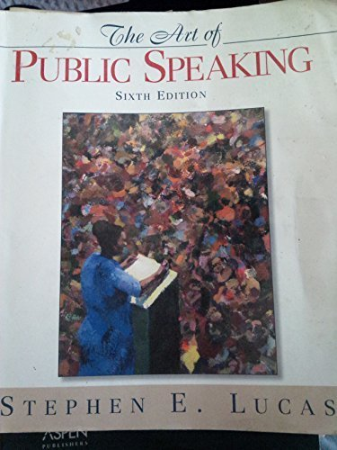 9780072355611: Art of Public Speaking (6th Edition)