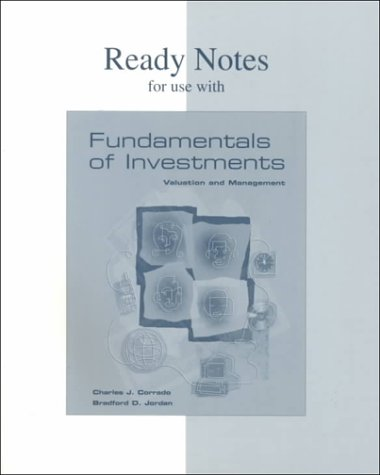 9780072356458: Ready Notes for Use With Fundamentals of Investments: Valuation and Management