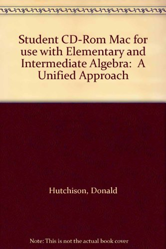 9780072357172: Student CD-Rom Mac for use with Elementary and Intermediate Algebra:  A Unified Approach