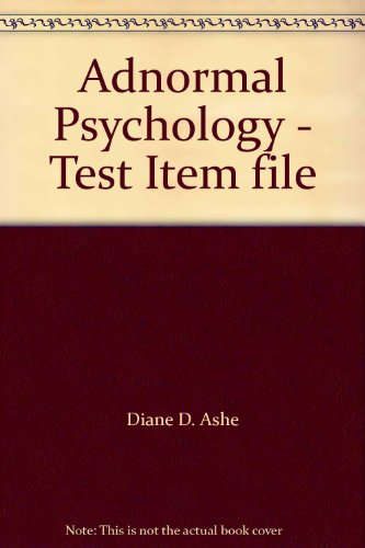 9780072358018: Adnormal Psychology - Test Item file