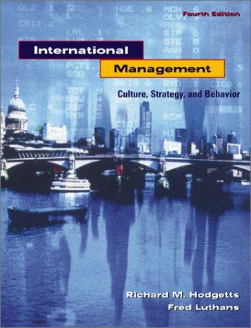 9780072358094: Management Culture, Strategy &_Behavior (1999 publication)