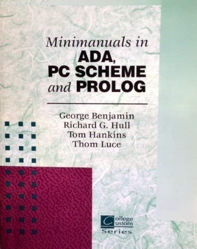 9780072359121: Minimanuals in ADA, PC SCHEME and PROLOG