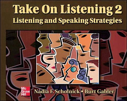 9780072360967: Take On Listening 2 Student Book: Listening/Speaking Strategies