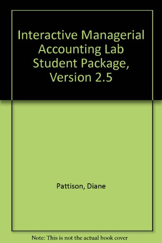 9780072361384: Interactive Managerial Accounting Lab Student Package