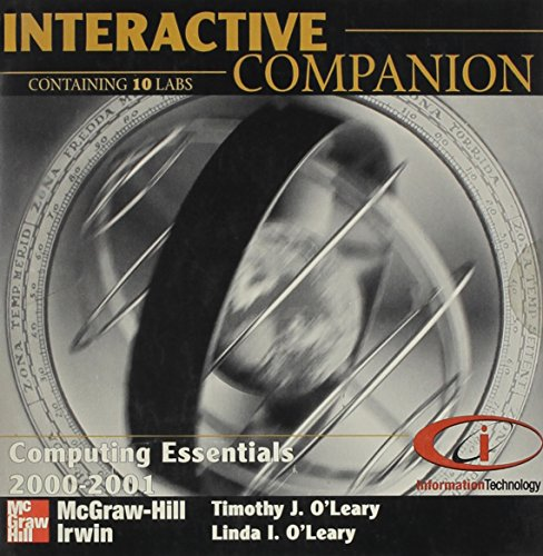 9780072361698: Interactive Companion CD-ROM for use with Computing Essentials 2000-2001