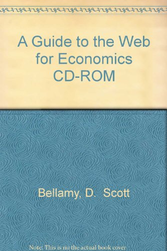 9780072362084: A Guide to the Web for Economics CD-ROM