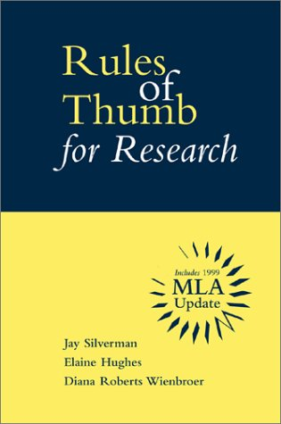 9780072363319: Rules of Thumb for Research with MLA Updates