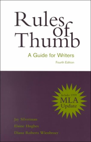 9780072363333: Rules of Thumb: A Guide for Writers