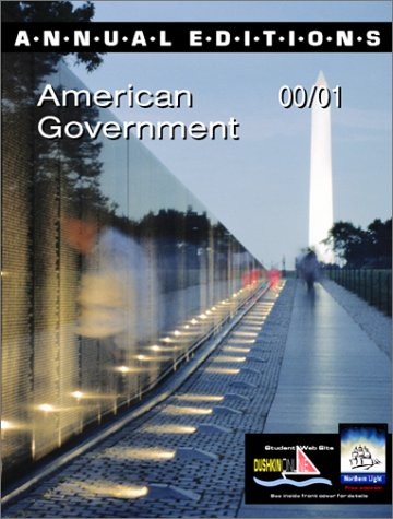 9780072365214: Annual Editions: American Government 00/01 (Annual Editions)