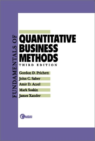 9780072368246: Fundamentals of Quantitative Business Methods: Business Tools and Cases in Mathematics, Descriptive Statistics, and Probability